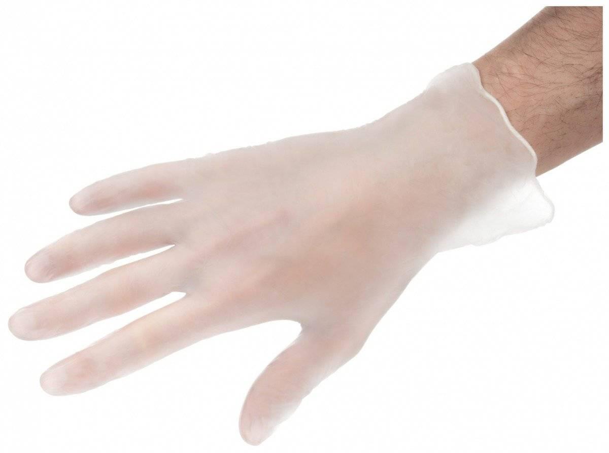 1000 szt. Rękawice Winylowe Bezpudrowe - 10 x 100 sztuk - rozmiar L