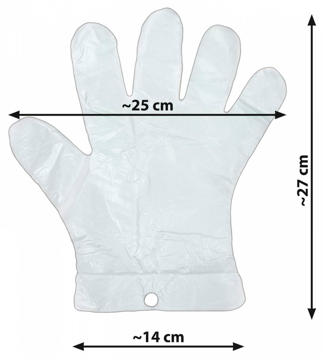 10000 szt. zrywki - foliowe rękawiczki jednorazowe zrywane HDPE