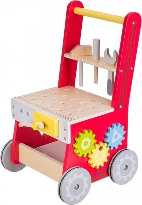 Drewniany chodzik/pchacz - warsztat - 47 elementów