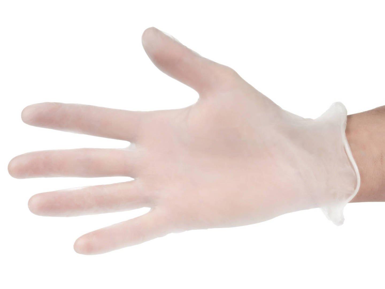 Rękawice winylowe ochronne - bezpudrowe - 100 sztuk - rozmiar M