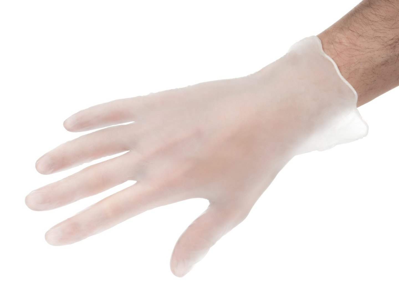Rękawice winylowe ochronne - bezpudrowe - 1000 sztuk (10 x 100 szt.) - rozmiar L