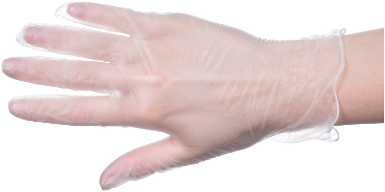 Rękawice winylowe ochronne - bezpudrowe - 1000 sztuk (10 x 100 szt.) - rozmiar XL